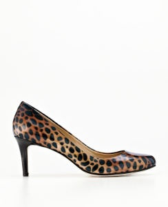 Ann Taylor Perfect Animal Print Patent Leather Heel