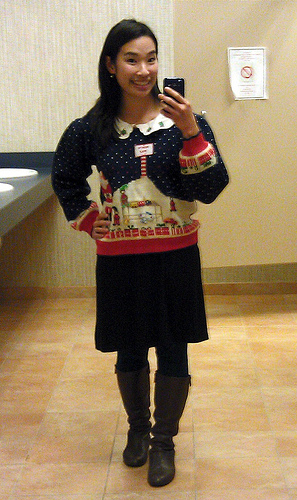 Ugly Sweater party outfit