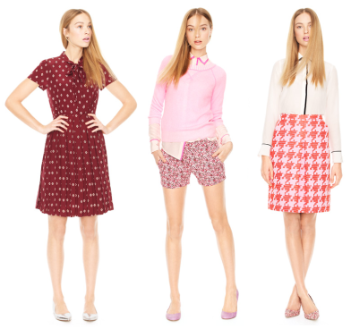 Valentine-y looks from J. Crew