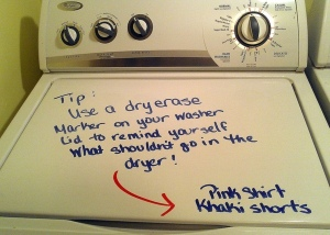 http://www.mommysavers.com/c/t/204934/tip-use-a-dry-erase-marker-on-your-washer-top)
