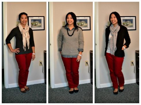 Cranberry jeans outfits