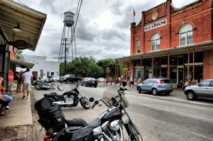 Gruene, Texas. Antique shops on every corner and the famed music venue, Gruene Hall at it's center.