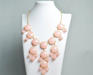 Pink bubble necklace from Amazon